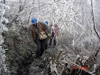 2008 Chinese winter storms - Image: Chinasnowstorm 2008 bijie