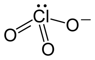 Chlorate Anion and term for chemical compounds containing it