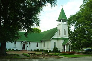 National Register of Historic Places listings in Marion County, Tennessee - Image: Christ Church South Pittsburg tn 1