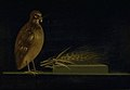 Christen Købke - A Quail Eating an ear of Corn - KMS3796 - Statens Museum for Kunst.jpg