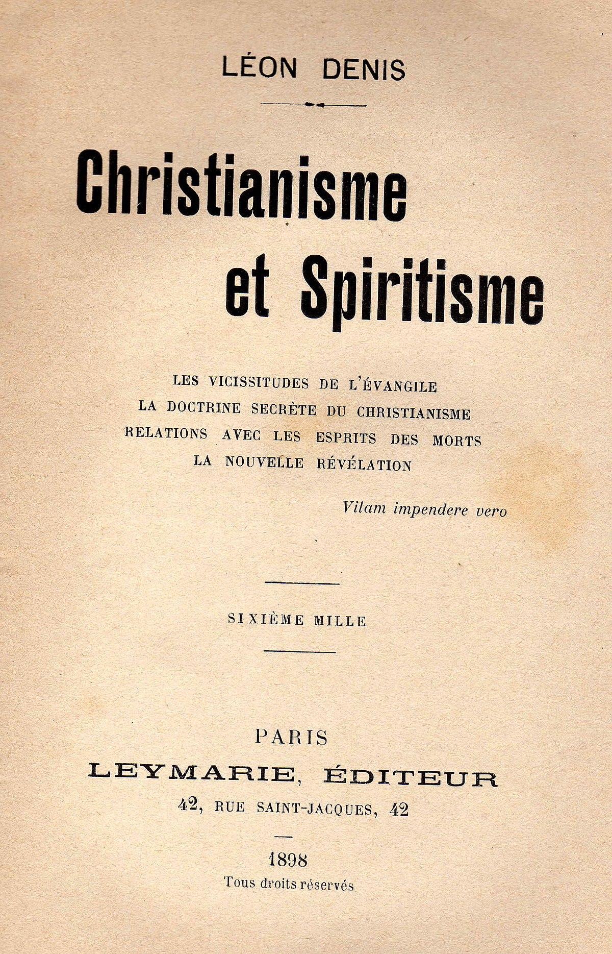 christianisme et spiritisme � wikip233dia