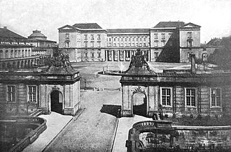 Christiansborg Palace (2nd) - The second Christiansborg Palace, view across the show grounds