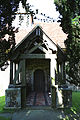 Church of St Michael, Leaden Roding, Essex, England - south porch from yew avenue.jpg