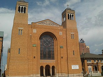 Church of the Assumption and Rectory - Image: Church of the Assumption and Rectory, Topeka, KS