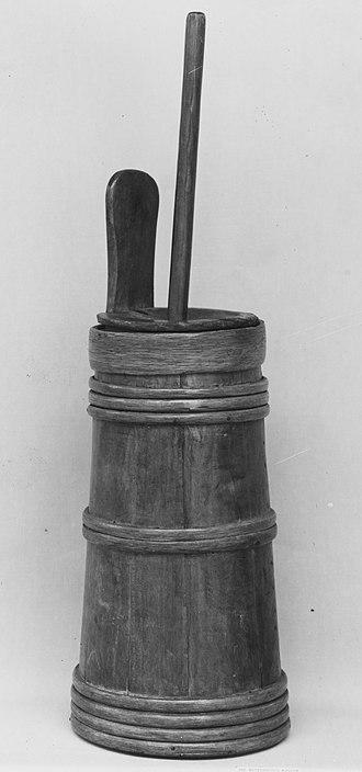 Milk churn - Original type of churn for making butter