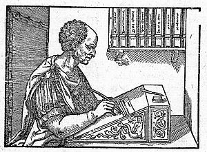 Quintus Valerius Soranus - Valerius Soranus was admired for his learning by Cicero (depicted anachronistically in a 16th-century edition of his letters)