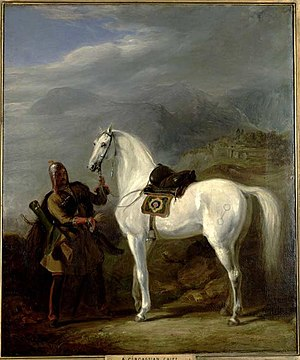 Battle of Ain Jalut -  A Circassian chief. By the end of the fourteenth century most of the Mamluk forces were composed of ethnic Circassians. Painted by Sir William Allan in 1843.