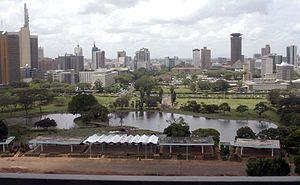 Uhuru Park - Image: City view from Uhuru Park, Nairobi