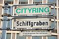 Cityring Hannover, Schiffgraben, Straßenschild mit Legendentafel.jpg
