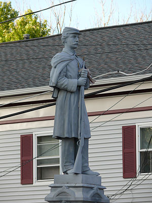 Olcott, New York - Civil War Memorial at the Lockport-Olcott Road, just north of Route 18, in Olcott Beach.