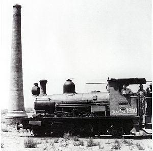 Namaqualand 0-6-2 Clara Class - No. 4 Clara on the shunt at the O'okiep Stack on 1 January 1950