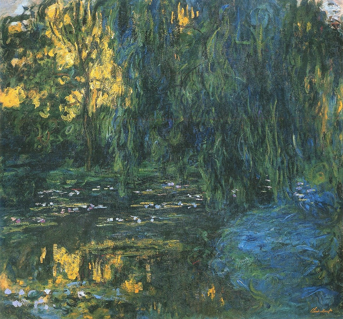File claude monet water lily pond and weeping willow jpg for Monet paintings images
