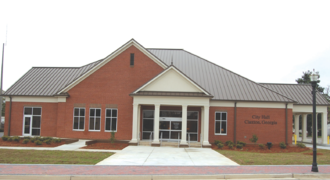 Claxton, Georgia - The city hall in Claxton