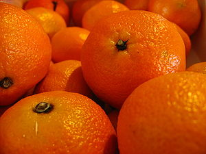 Macro shot of a box of clementines, Citrus ret...