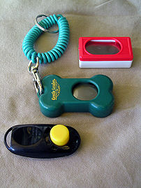 Clickers used for :en:clicker training Taken b...
