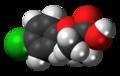 Clofibric acid molecule spacefill.png