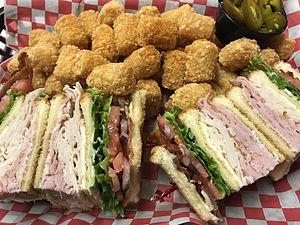 Club sandwich - Image: Clubsandwichonwhiteb read