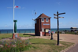 Mundesley - Mundesley Maritime Museum and war memorial in August 2013