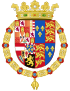 Coat of Arms of Philip II of Spain, English King Consort-Spanish Variant (1556-1558).svg