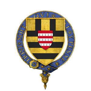 Simon de Burley - Arms of Sir John Burley, KG
