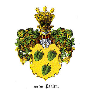 Pahlen - Original arms of the family