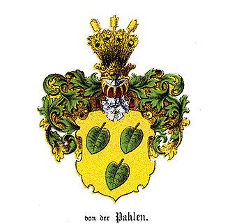 Pahlen - Original arms of the family