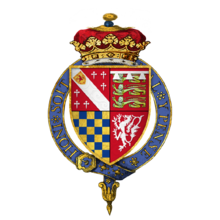 Coat of arms of Sir Thomas Howard, 2nd Duke of Norfolk, KG.png