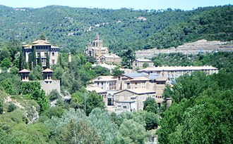 Company town - Cal Pons, a textile company town, or industrial colony, in Puig-reig