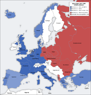 Cold war europe military map sv