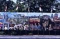 Collectie NMvWereldculturen, TM-20019417, Dia- Schildering ter gelegenheid van het 40-jarig jubileum van de viering van Onafhankelijkheidsdag, Henk van Rinsum, 08-1985.jpg