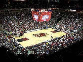 Colonial Life Arena - The arena floor of the Colonial Life Arena.