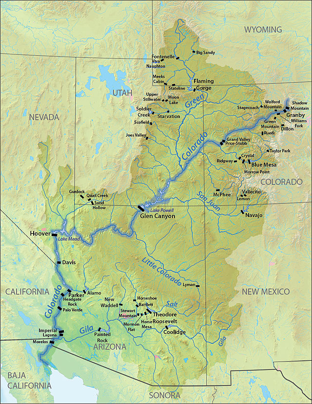 List of dams in the Colorado River system - Wikiwand