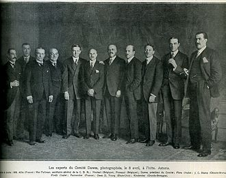 Dawes Plan - The Dawes committee, presided by Charles G. Dawes (April 8, 1924)