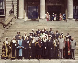 Speaker (politics) - Speakers and presiding officers from various Commonwealth nations meet for a Commonwealth Speakers and Presiding Officers Conference in Wellington, New Zealand, 1984
