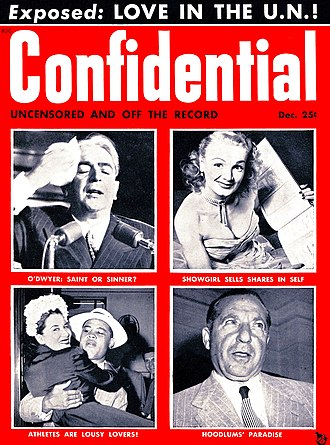 Confidential (magazine) - First issue of Confidential, December 1952