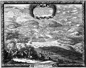 Battle of Wojnicz - Conflictus apud Tarnovam et Wounicium Ubi Rex Carolus Gustavus cum parte Sui equitatus, Conietzpolscium Polonicum Die 23 septemb 1655 by Erik Dahlbergh