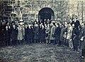 Congressistas no Castelo de Santa Maria da Feira - GazetaCF 1105 1934.jpg