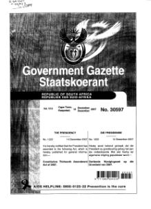 Constitution Thirteenth Amendment Act of 2007 from Government Gazette.djvu