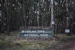 Coolah Tops National Park - Coolah Tops National Park entrance