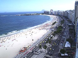 A view of the Copacabana beach.