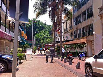 Zona Rosa, Mexico City - A Zona Rosa street scene
