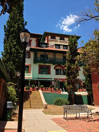 Copper Queen Hotel - A view of the front of the Copper Queen Hotel in Bisbee, AZ