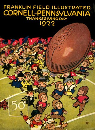 Cornell–Penn football rivalry - Cornell–Penn football program, November 1922