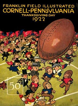 Cornell–Penn football rivalry - Cornell–Penn football program, November 1922