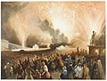 Coronation of Alexander II, Moscow, September 17, 1856- Fireworks Display before the Cadets' Building MET DR293.jpg