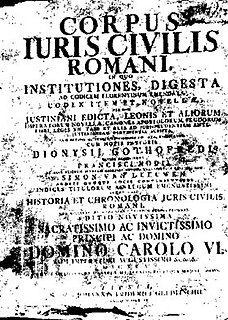 <i>Corpus Juris Civilis</i> Collection of fundamental works in jurisprudence as codified by Justinian