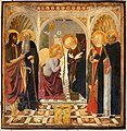 Cosimo rosselli, annunciazione tra i ss. giovanni battista, antonio, caterina e pietro, 1473, 01.jpg