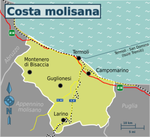 Cartina Italia Termoli.Costa Molisana Wikivoyage Guida Turistica Di Viaggio