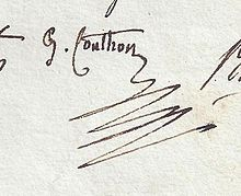 Couthon signature, French politician during the French Revolution.jpg