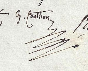 Georges Couthon - Signature